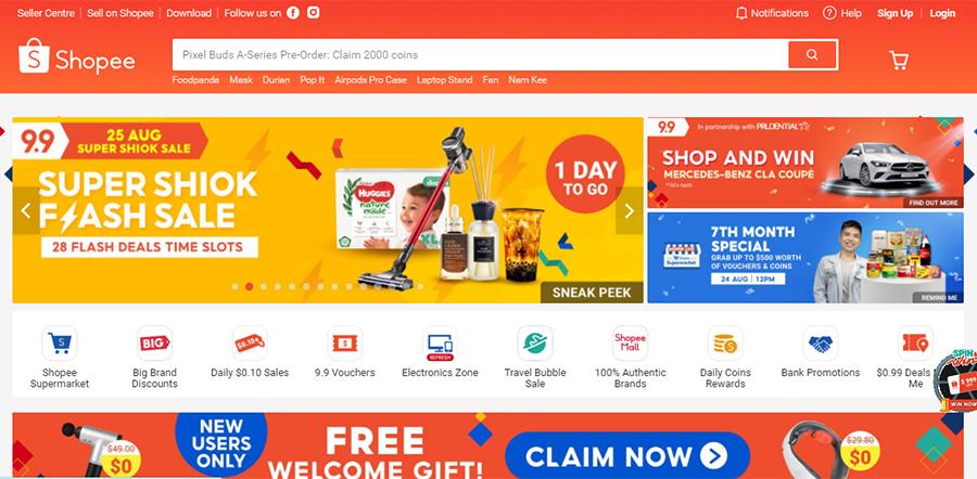 shopee home page